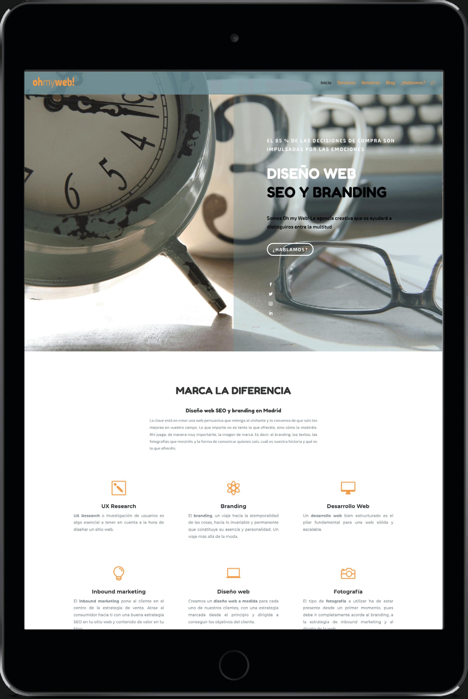 Diseño web profesional en Madrid responsive